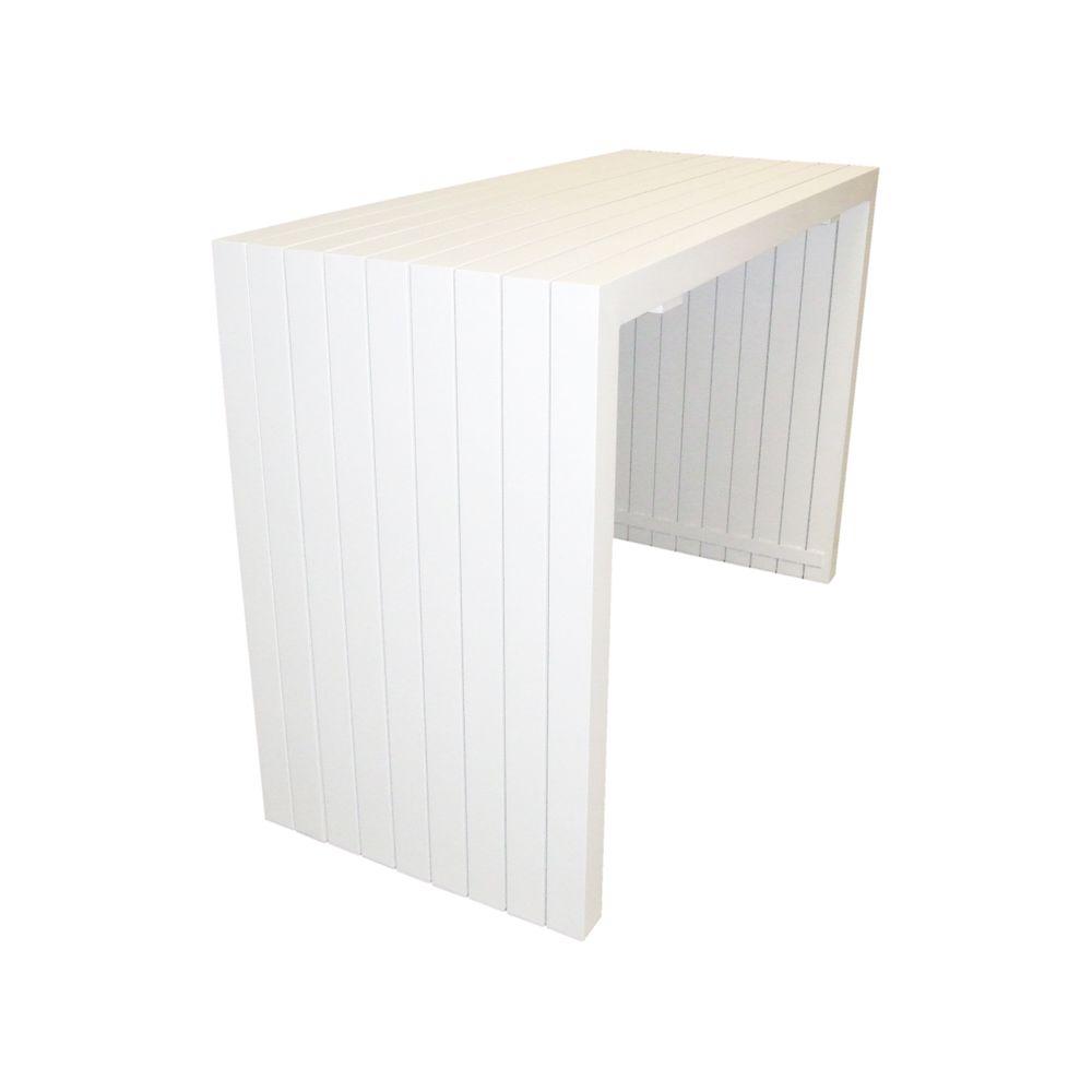 Garten-Bartisch BT01 aus Aluminium - Weiß - 160 x 67 x 110 cm  – Bild 2