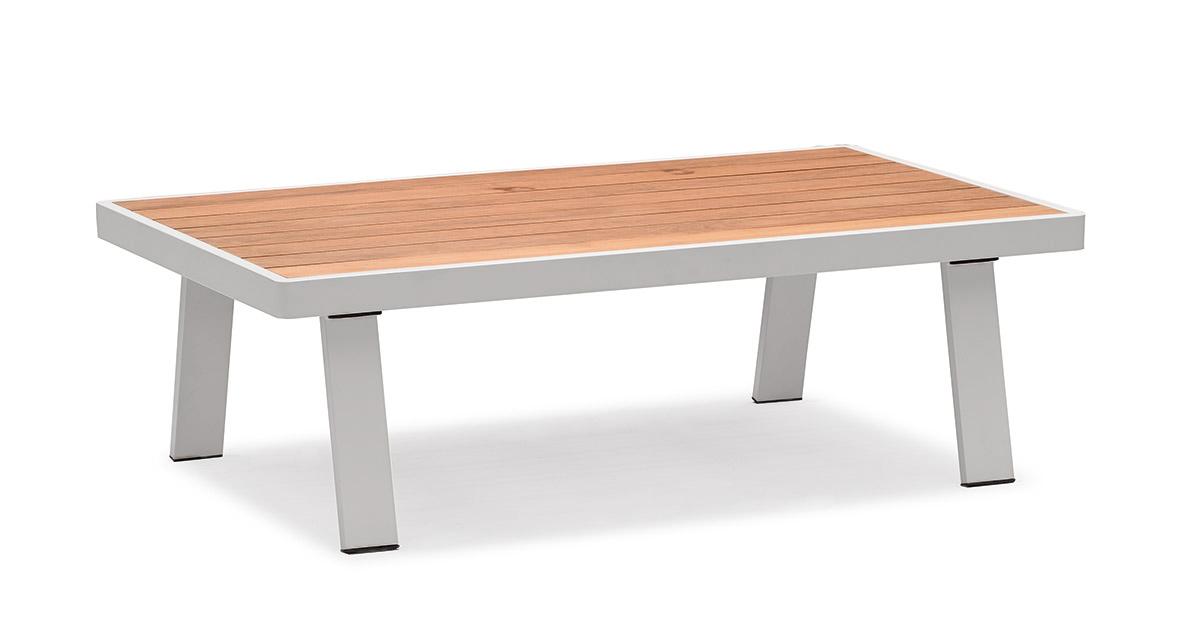 BERNSTEIN Gartenlounge NOFI Loungetisch Gartentisch - 120 x 70 cm - Tischplatte Teak – Bild 1