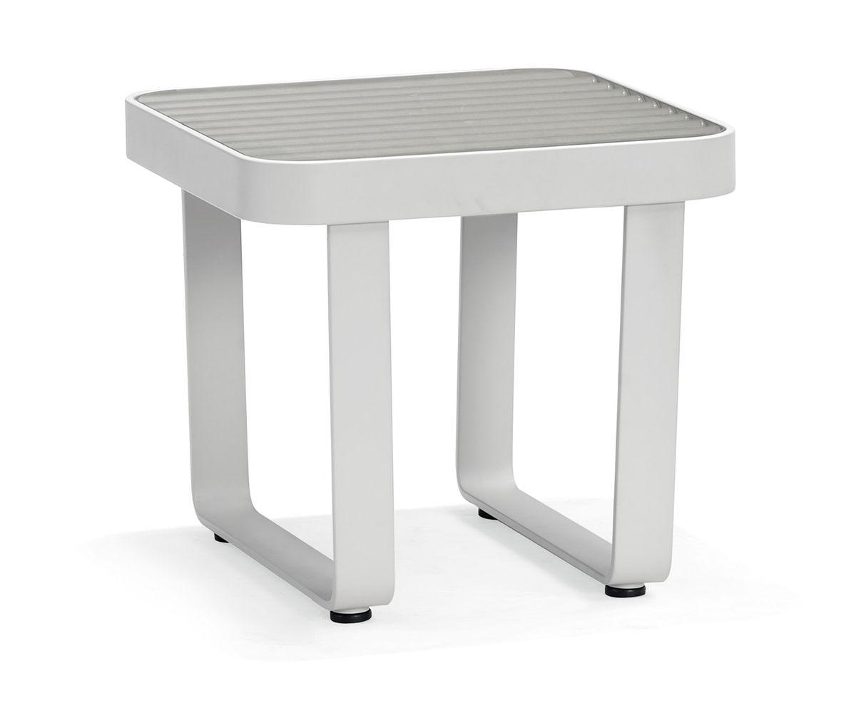 Gartentisch Beistelltisch AIRPORT Aluminium - 50 x 50 x 45 cm – Bild 1