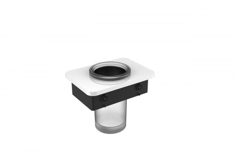 Hochwertiger Handtuchhalter SDLHH60 - Serie LINEAR - chrom - Zahnputzbecher / Seifenspender / Ablage optional – Bild 5