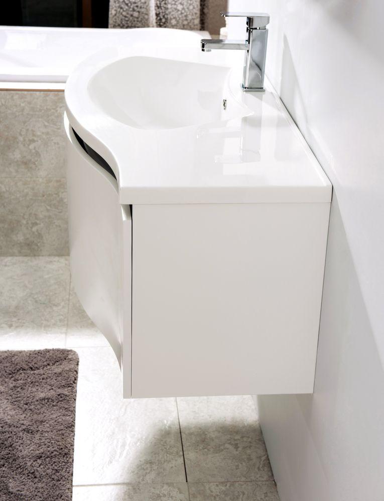 Meubles de salle de bains LENA 1000 blanc mat - miroir en option – Bild 3