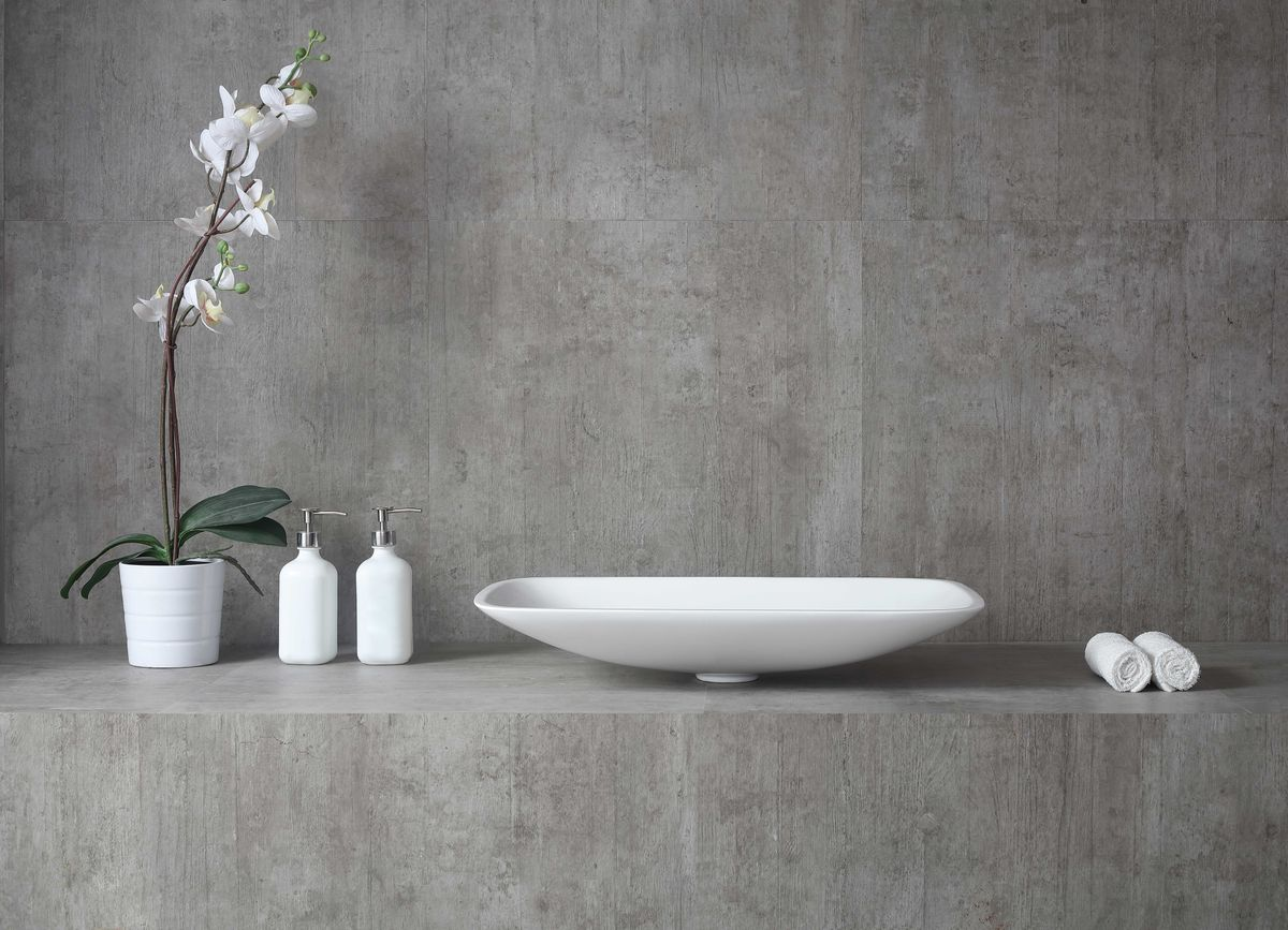 Counter top basin TWA06 of mineral cast (Pure Acrylic) - Matte - 60,5 x 38,5 x 10,5 cm – Bild 3