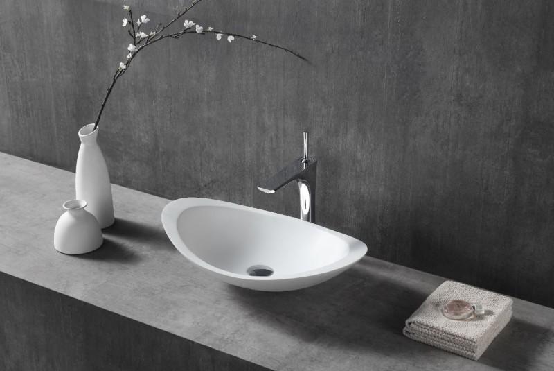 Vasque à poser TWA05 en fonte minérale (Pure Acrylic) - Haute brillance - 60,5 x 38 x 14,5 cm – Bild 1
