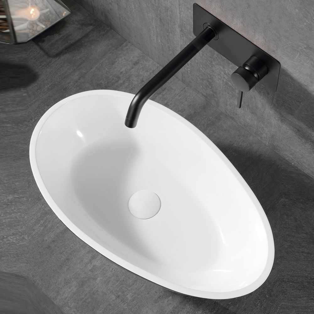 Wall basin mixer XX0539B with built-in body - Matte black – Bild 2