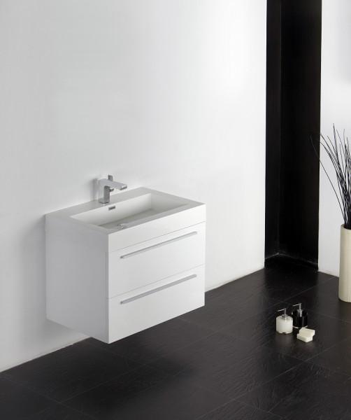 Badmöbel-Set T730 Weiß - Spiegel wählbar