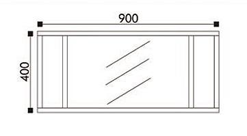 Wall-hung bathroom furniture set T730 - glossy white - optional mirror – Bild 6