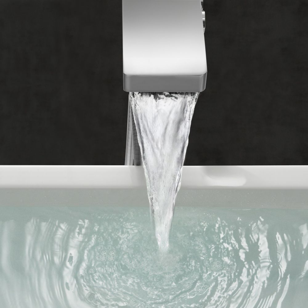 Waterfall Freestanding Bath Tap NT6982 - with Hand Shower and Shower Hose – Bild 4