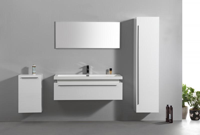 Meubles de salle de bains N1200 blanc - en option miroir et armoire murale