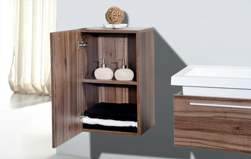 Bathroom forniture set N1200 - wood - mirror cabinet and wall-mounted cabinet optional – Bild 4