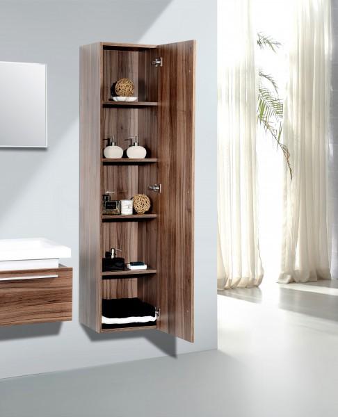 Badmöbel Set N1200 walnuss - Spiegel und Seitenschränke optional – Bild 5