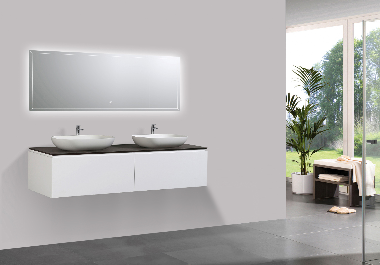 Composizione Di Mobili Spring 1500 Bianco Opaco Sideboard E Lavabo