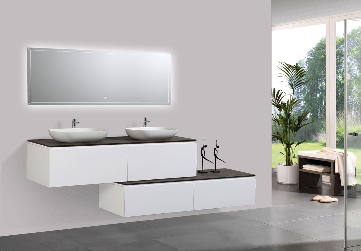 Badmöbel-Set Spring 1500 Weiß Matt - Sideboard und Aufsatzwaschbecken optional – Bild 4