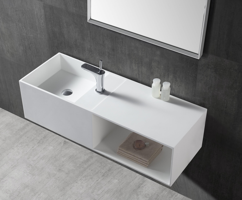 Piano Per Lavabo Da Appoggio lavabo da appoggio o sospeso twg36 di pietra artificiale