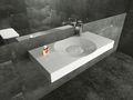 Wandwaschbecken Aufsatzwaschbecken BS6059 in Weiß - 100 x 48 x 10 cm  001