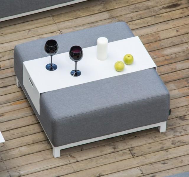 Gartenmöbel-Set DEVANE - Sunbrella Textil (Flanelle 3757) - Gartenlounge (4-teilig) – Bild 6
