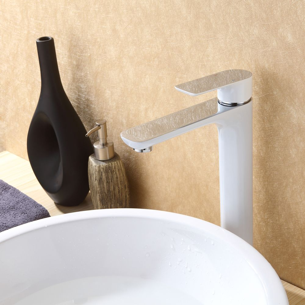 Mixer tap for sink and basin long 4025CW glossy white – Bild 2