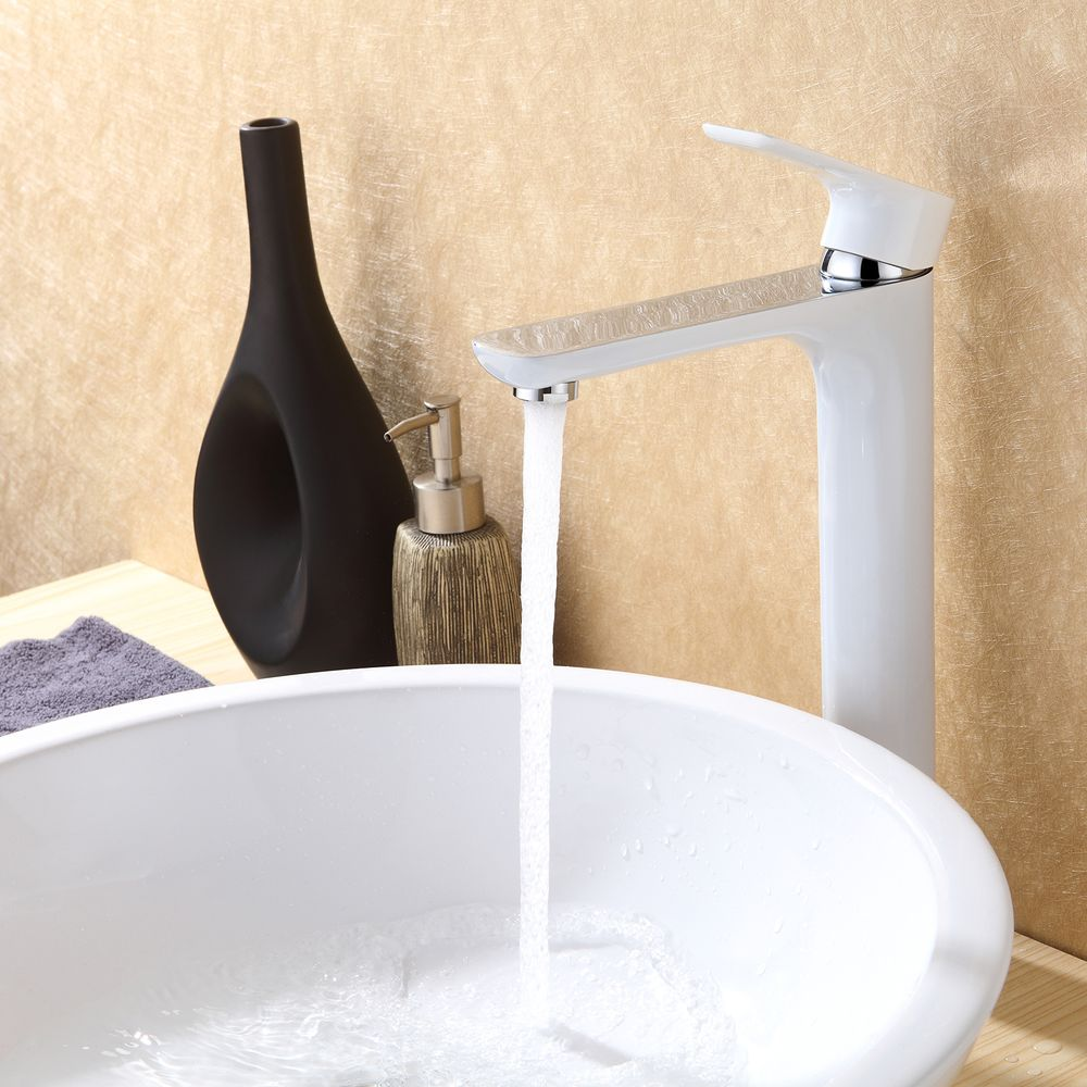 Mixer tap for sink and basin long 4025CW glossy white – Bild 3
