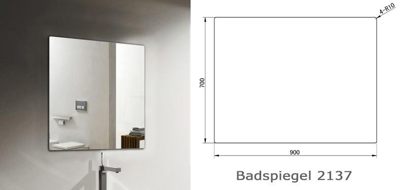 Badmöbel Fiona 900 Weiß matt - Front in Eiche-Optik - Spiegel und Aufsatzwaschbecken optional – Bild 9