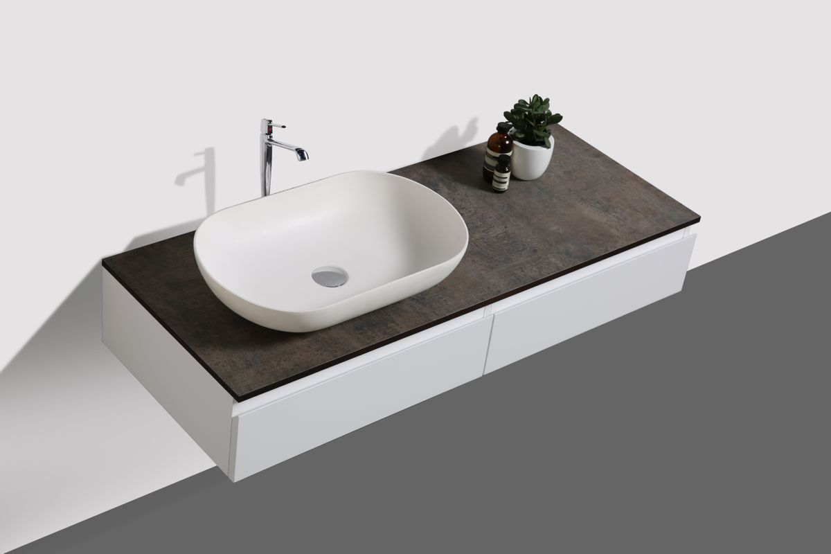 Bathroom furniture set Vision 1200 white matte - optional mirror and countertop basin – Bild 3
