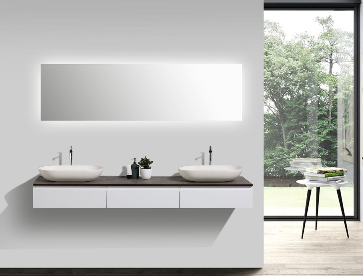 Bathroom furniture set Vision 1800 white matte - optional mirror and countertop basin – Bild 1