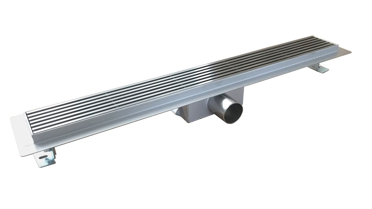 Stainless steel shower drain H01 - high speed - for walk-in shower - selectable lengths – Bild 1