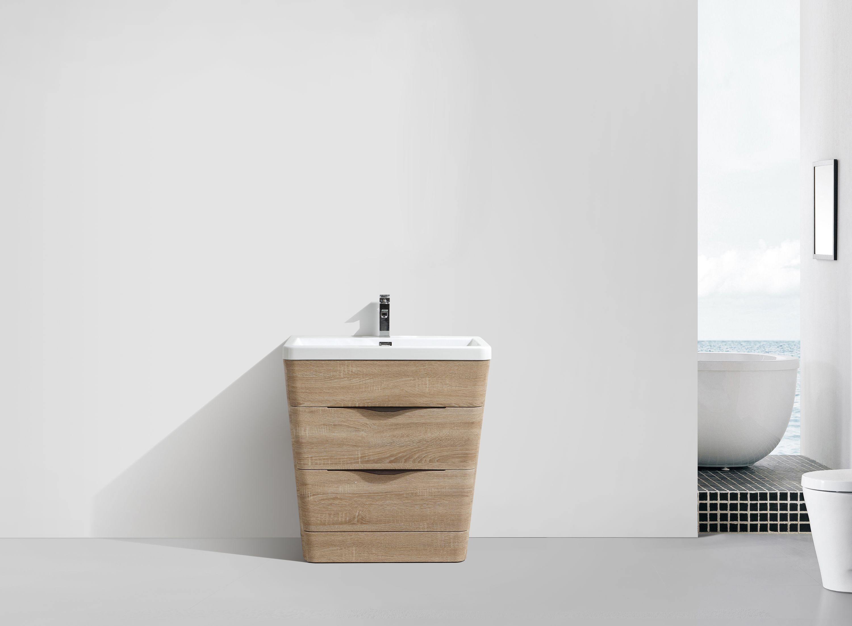 Petit meuble de salle de bain victoria 650d basic en for Meuble salle de bain mdf