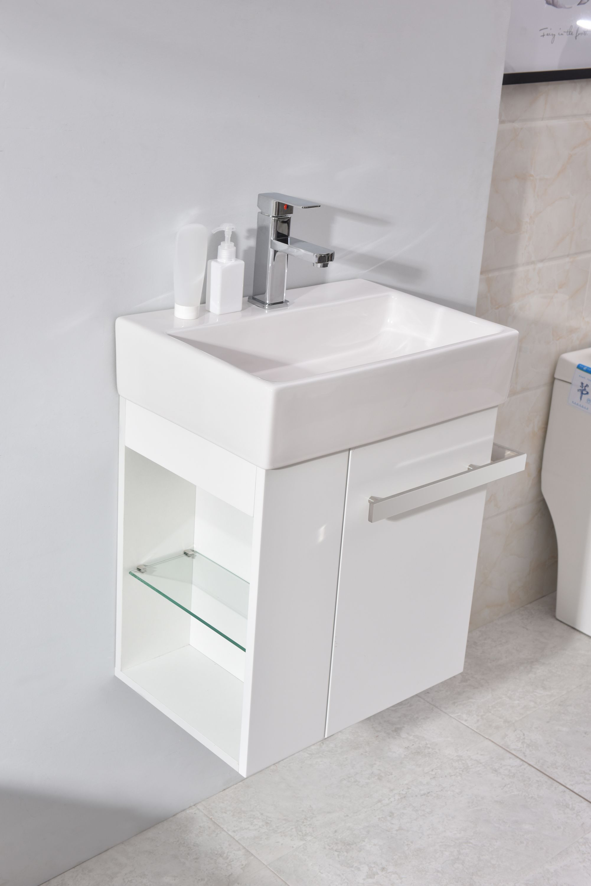 Bathroom Furniture Set Compact 500  White Matte
