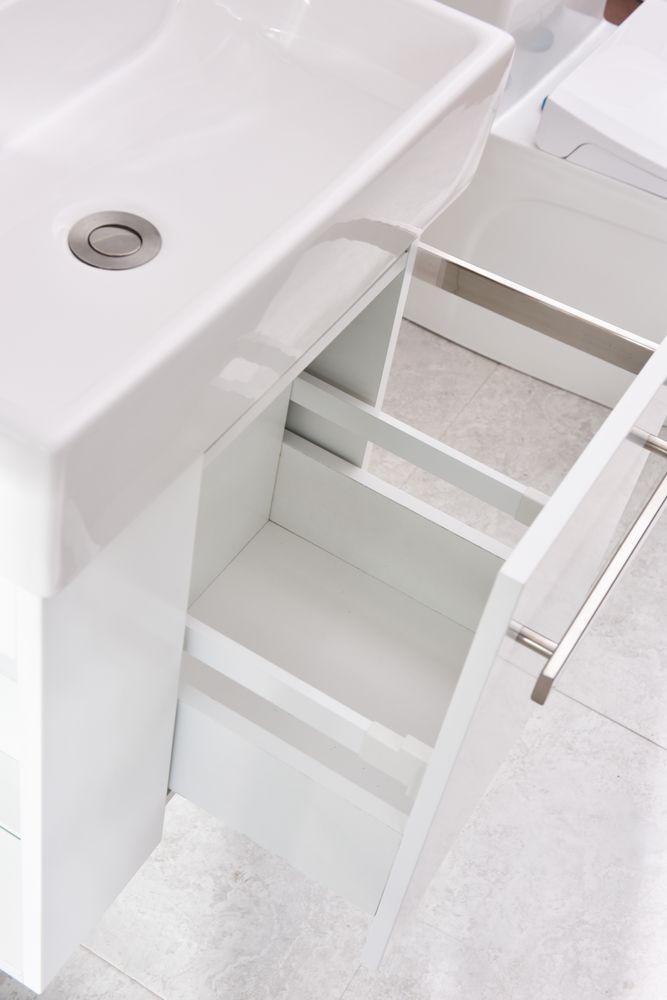 Badmöbel-Set Compact 500 für Gäste-WC - Weiß matt – Bild 6