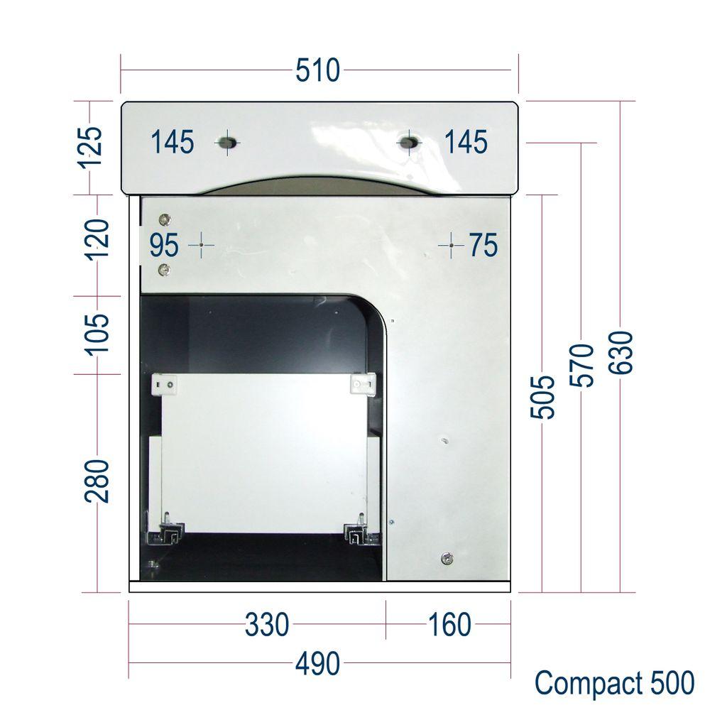 Badmöbel-Set Compact 500 für Gäste-WC - Anthrazit matt – Bild 10