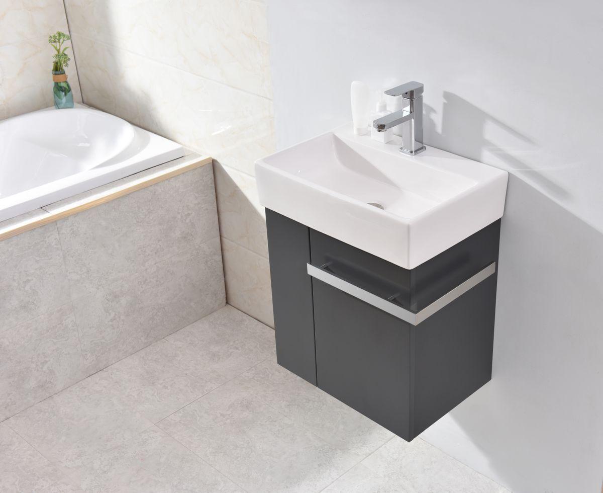 Badmöbel-Set Compact 500 für Gäste-WC - Anthrazit matt – Bild 1