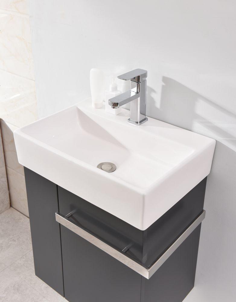 Badmöbel-Set Compact 500 für Gäste-WC - Anthrazit matt – Bild 4