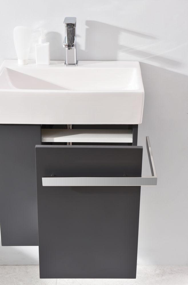 Badmöbel-Set Compact 500 für Gäste-WC - Anthrazit matt – Bild 5