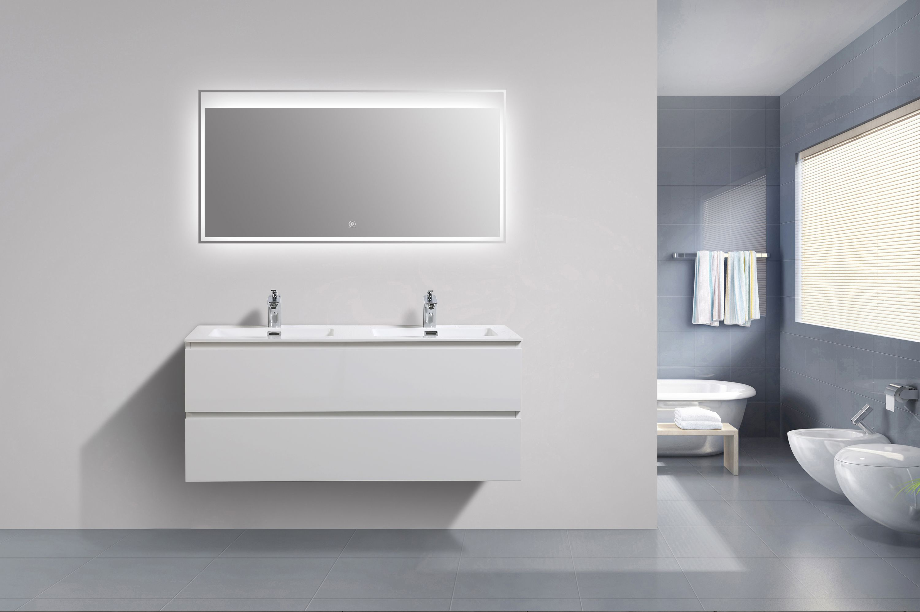 meuble salle de bain alice 1200 blanc haute brillance. Black Bedroom Furniture Sets. Home Design Ideas