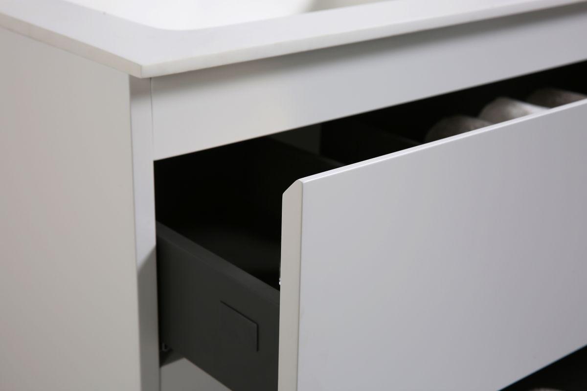 Badmöbel-Set Alice 1200 Weiß matt - Spiegel optional – Bild 7