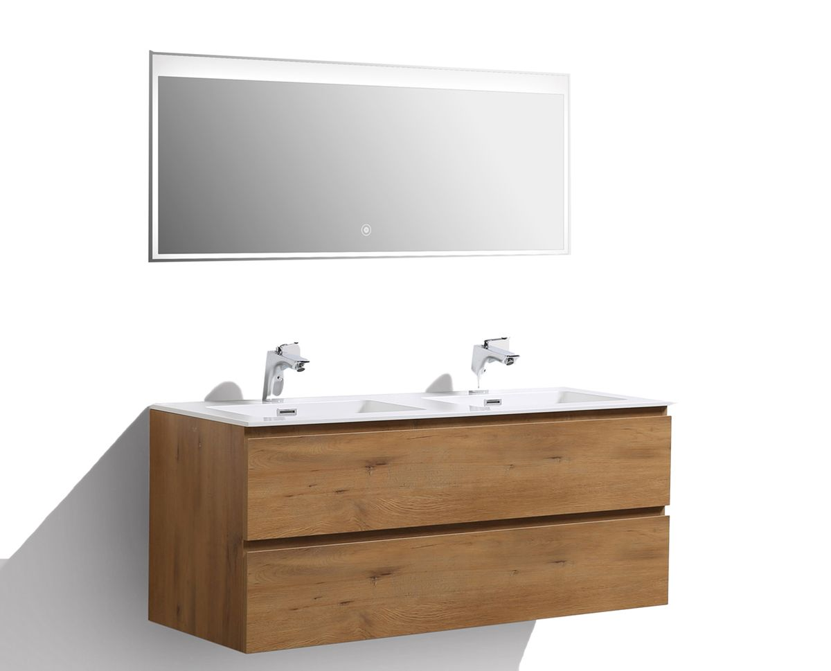 Bathroom furniture set Alice 1200 glossy oak - Optional mirror – Bild 14