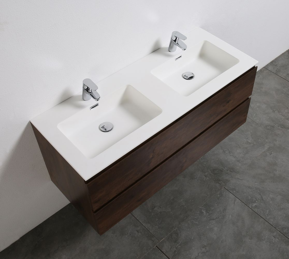Bathroom furniture set Alice 1200 rosewood - Optional mirror – Bild 5
