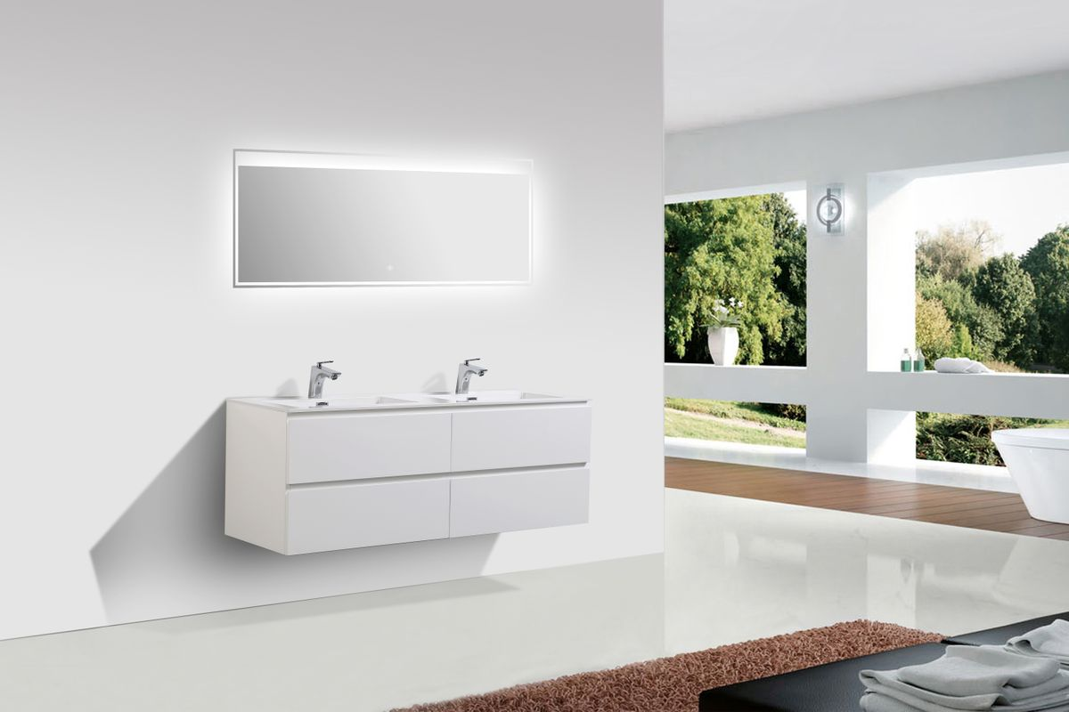 Mueble baño Alice 1380 blanco brillo intenso - Espejo opcional – Bild 2