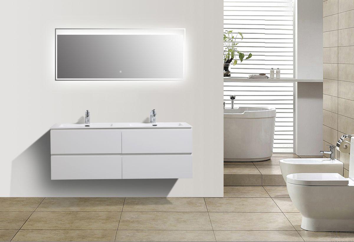 Mueble baño Alice 1380 blanco brillo intenso - Espejo opcional – Bild 3