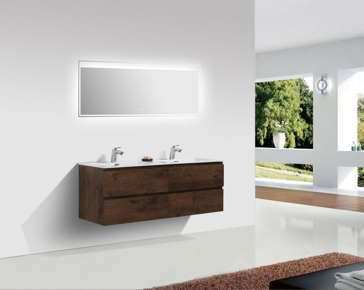Bathroom furniture set Alice 1380 rosewood - Optional mirror – Bild 1