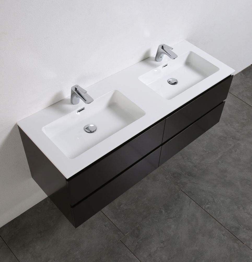 Meuble salle de bain Alice 1380 marron gris Miroir en option – Bild 3