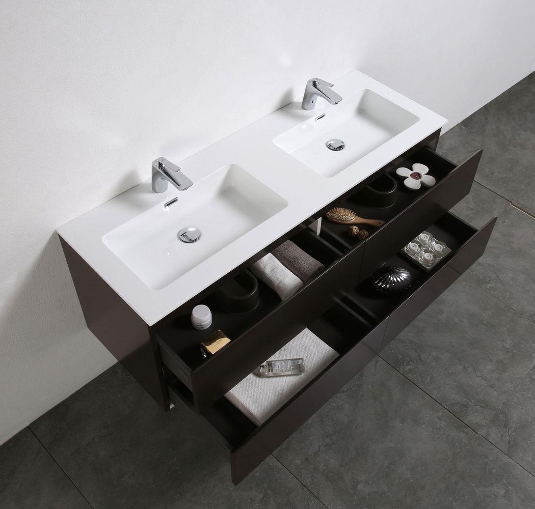 Meuble salle de bain Alice 1380 marron gris Miroir en option – Bild 4