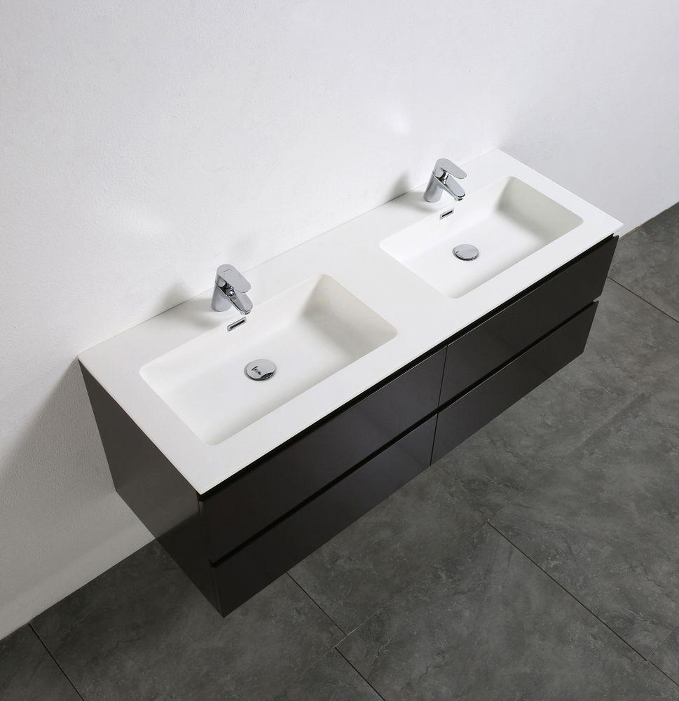 Meuble salle de bain Alice 1380 marron gris Miroir en option – Bild 5