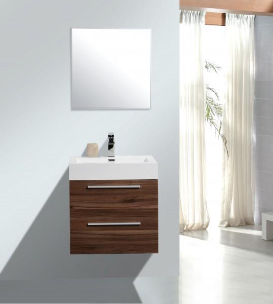 Badmöbel-Set M600 Walnuss - Badspiegel optional wählbar – Bild 1