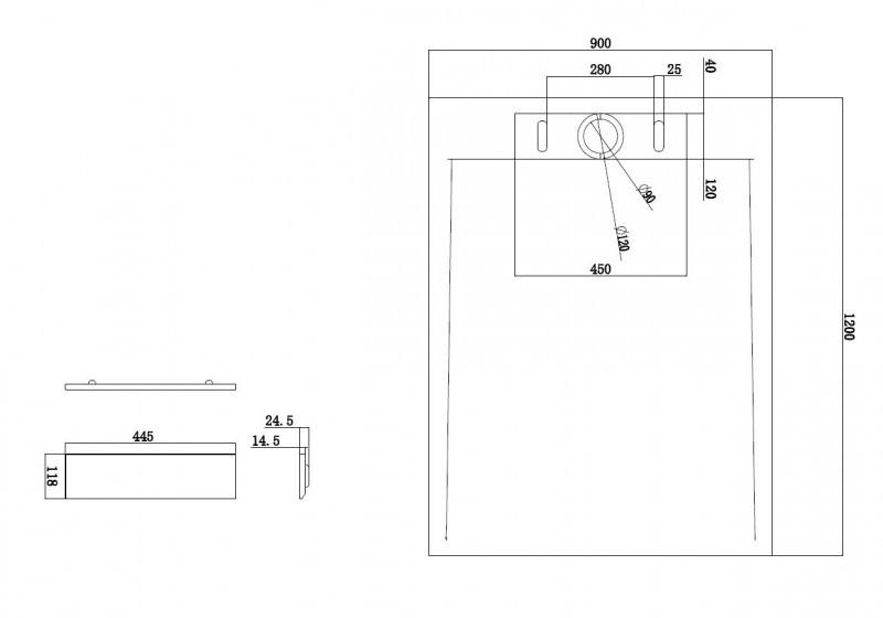 Mineralguss Duschtasse Duschwanne PB3085MG - Grau Matt - 120x90x3,5cm – Bild 2