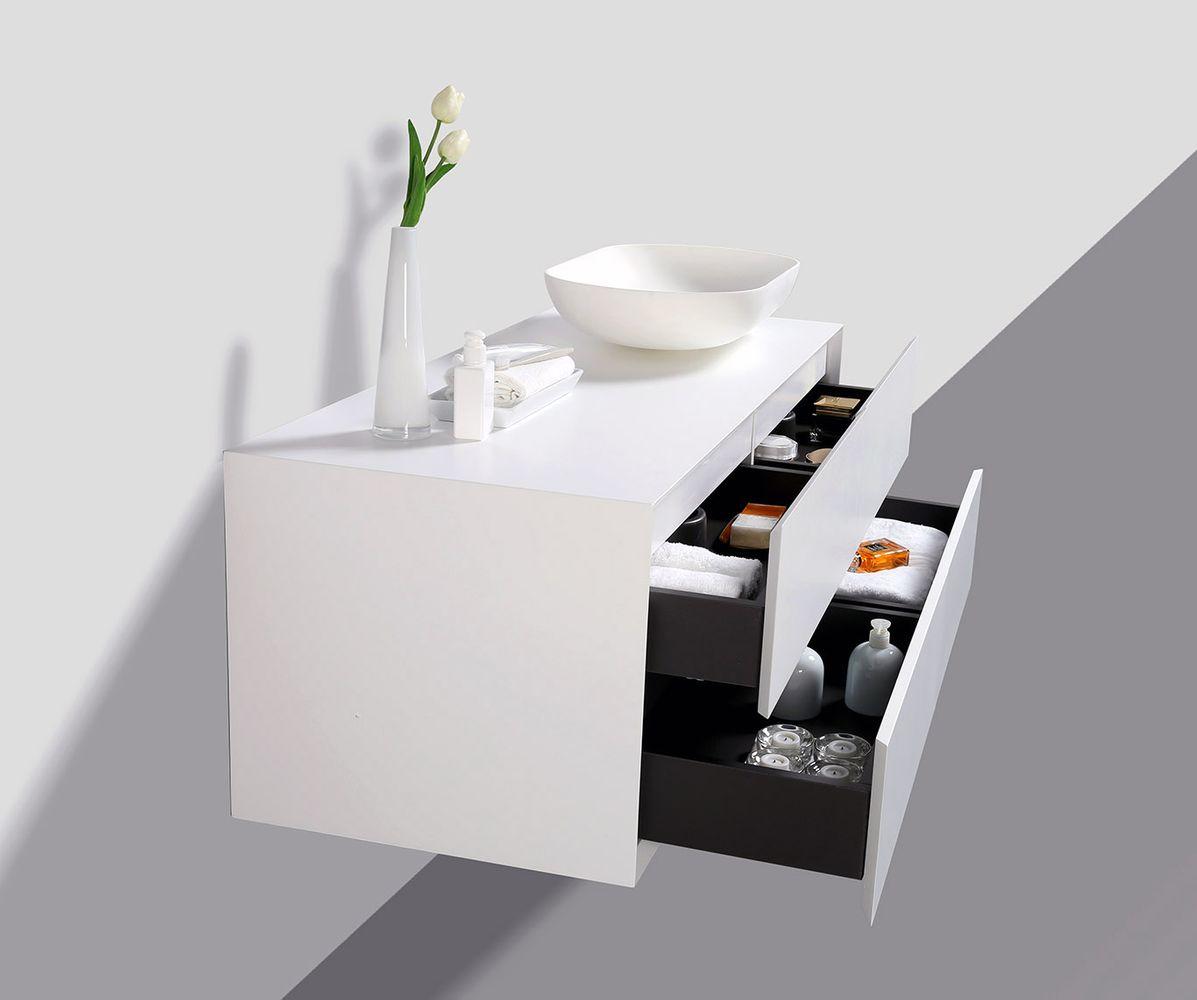 Bathroom furniture set Milou 1200 white matte - optional mirror and basin – Bild 4
