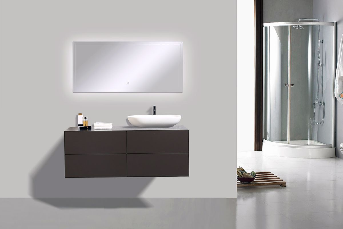Badmöbel Milou 1200 Coffee matt - Spiegel und Aufsatzwaschbecken optional – Bild 2