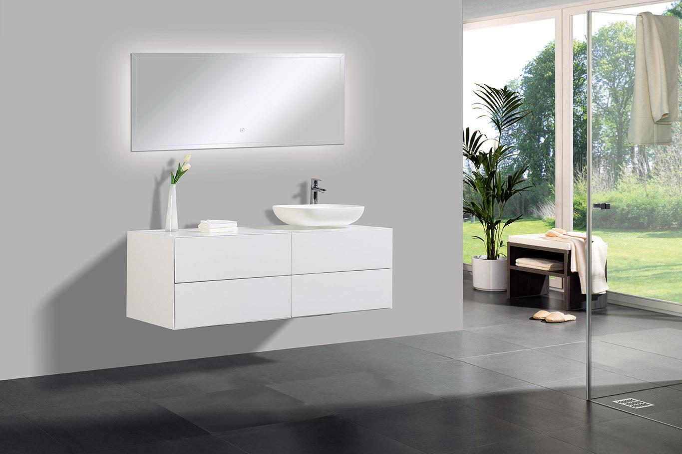 Mobile Bagno Lavandino Incasso mobile da bagno milou 1400 bianco opaco - specchio e lavabo