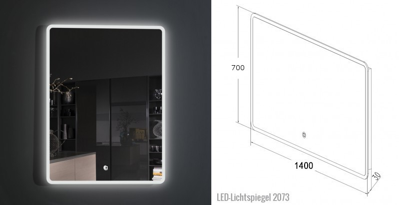 Conjunto de baño Milou 1400 marrón gris - espejo y lavabo opcionales – Bild 9
