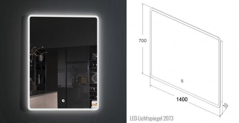Bathroom furniture set Milou 1400 grey brown - optional mirror and basin – Bild 9