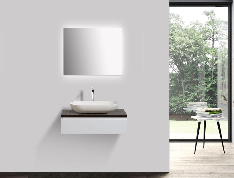 Badmöbel Vision 700 Weiß matt - Spiegel und Aufsatzwaschbecken optional